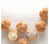 PROFITEROLES VANILLA ICE CREAM 1KG/40PC FRZ POP