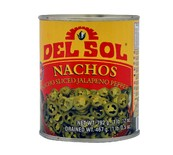 JALAPENO PEPPERS GREEN NACHO SLICED 800GR S