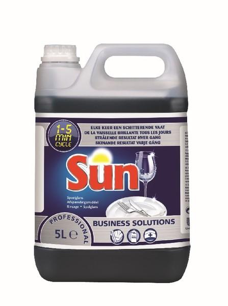 Prod rincage lave vaisselle liquide sun 5l lave for Produit rincage lave vaisselle