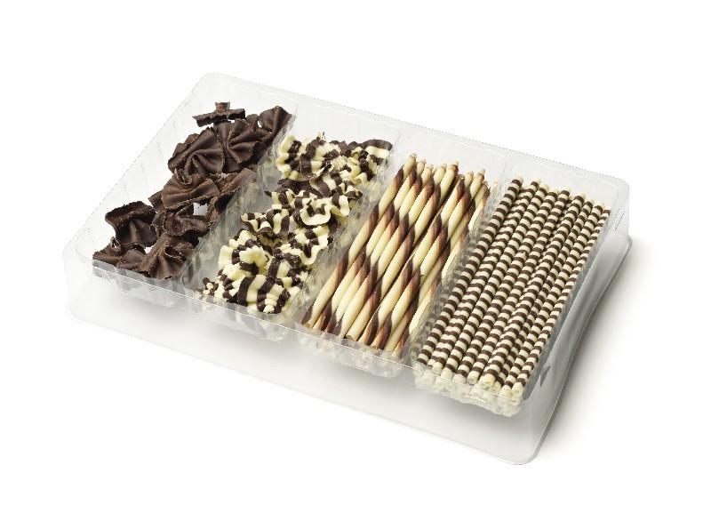 Chocolade versiering deco 100st dvf decoratie chocolade for Decoratie chocolade